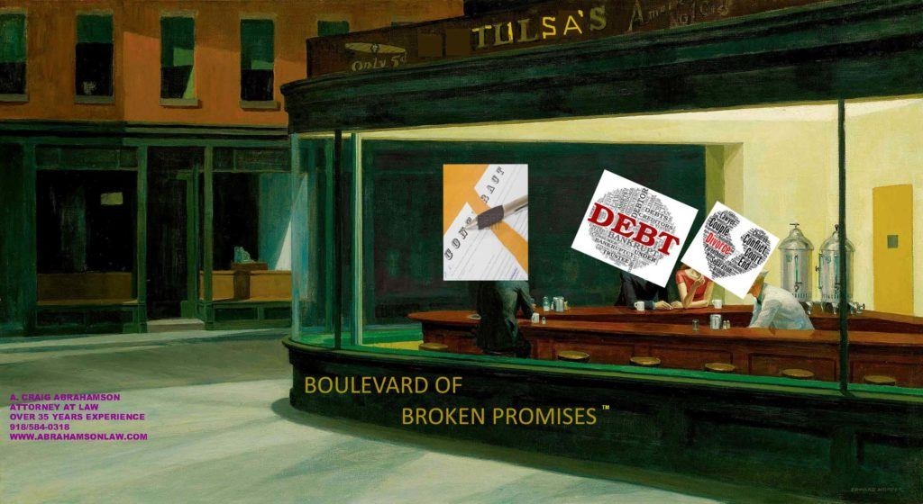 """A """"Nighthawks"""" like diner on the boulevard of divorce, bankruptcy and broken contracts"""